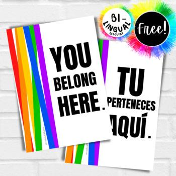 Classroom Poster | YOU BELONG HERE