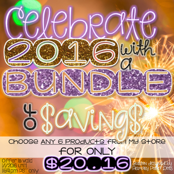 *YOU PICK THE BUNDLE - 6 for $20.16* Jan. 1 2016 ONLY!!!