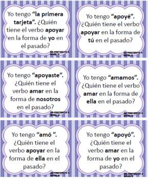 """""""Yo tengo, ¿Quién tiene? I have, who has? AR preterite verbs"""