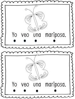 'Yo veo' Spanish Tracking Mini Book