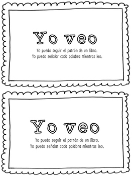 'Yo veo' Spanish Tracking Mini Book