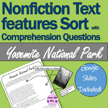 Yosemite Nationals Park Worksheets Teaching Resources TpT