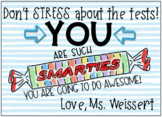"""You Are Smarties"" End of the Year Student Motivation Cards"
