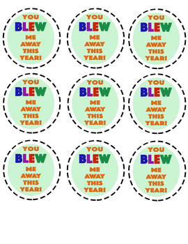 photograph regarding You Blew Me Away This Year Free Printable named Your self Blew Me Absent This 12 months Worksheets Coaching Products TpT