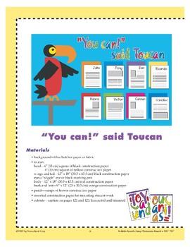 """""""You Can!"""" said Toucan (Bulletin Board)"""