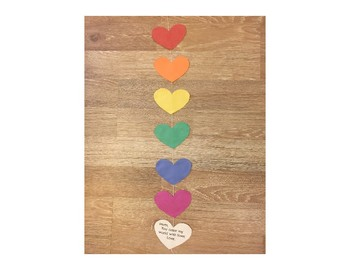 """You Color My World With Love"" Rainbow Craft"