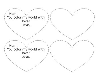 """""""You Color My World With Love"""" Rainbow Craft"""