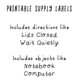 You Will Need supply labels (Printable)