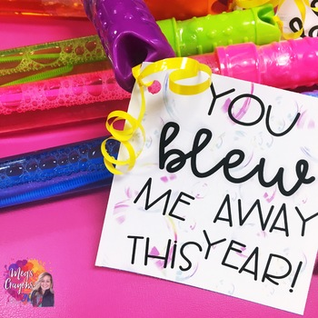 """You blew me away!"" End of year Gift tag!"