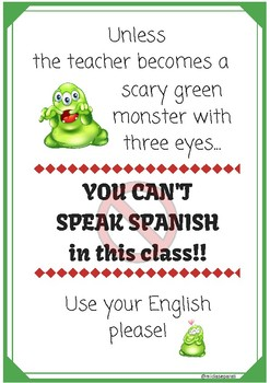 'You can't speak Spanish' poster