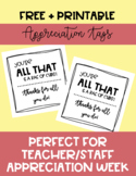 """You're all that and a bag of Chips"" Chips Staff/Teacher Appreciation Gift Tags"
