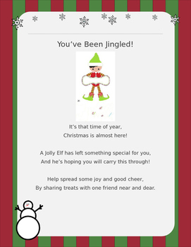 Christmas Gift Exchange Poem.You Ve Been Jingled Holiday Gift Exchange
