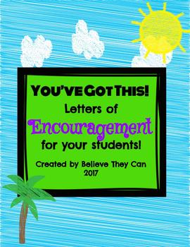 """You've Got This!"" Letters of Encouragement to Your Students1"