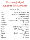 """""""You are judged by your grammar"""" Poster"""