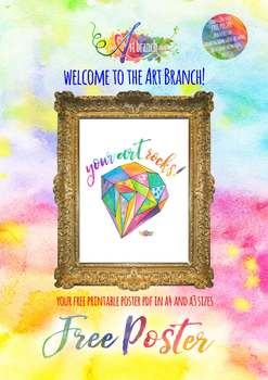 """Your Art Rocks!"" - Free Art Poster"