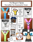"""Ys Guys & Spies"" The Letter Yy: A Consonant & Vowel Craft"