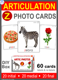 */Z/ Articulation 60 Photo Flash Cards : Speech Therapy