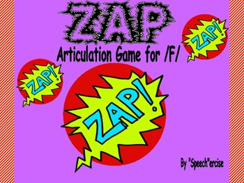 """""""ZAP"""" Articulation Game for /F/- Speech Therapy"""