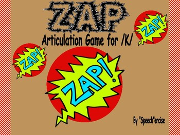 """ZAP"" Articulation Game for /K/- Speech Therapy"