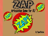 """""""ZAP"""" Articulation Game for /K/- Speech Therapy"""