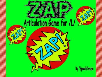 """""""ZAP"""" Articulation Game for /L/- Speech Therapy"""