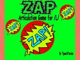 """ZAP"" Articulation Game for /L/- Speech Therapy"