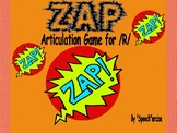 """ZAP"" Articulation Game for /R/- Speech Therapy"
