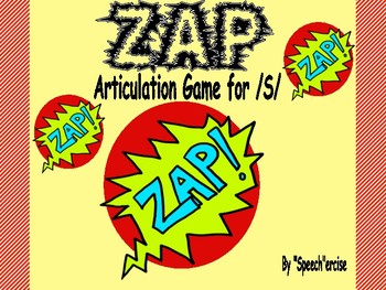"""""""ZAP""""  Articulation Game for /S/- Speech Therapy"""