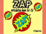 """ZAP""  Articulation Game for /S/- Speech Therapy"