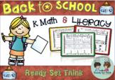 (ZERO PREP) K Back to School Math and Literacy