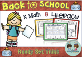 (ZERO PREP) K Back to School Math and Literacy