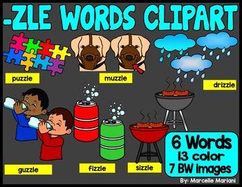 -ZLE ENDING WORDS CLIP ART