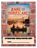 """Zane and The Hurricane"" Literature Circle Novel Study"