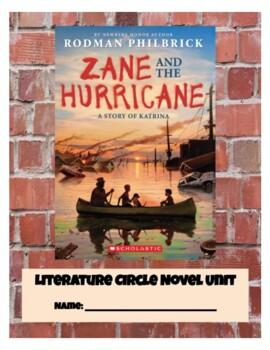 """Zane and The Hurricane"" Literature Circle Novel Study"