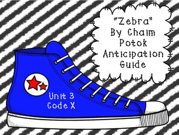 """""""Zebra"""" by Chaim Potok Anticipation Guide"""