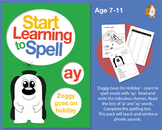 'Zoggy Goes On Holiday' Spell Words With 'ay'. Learn To Spell With Phonics 7-11