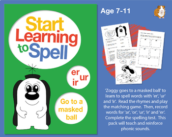 'Zoggy Goes To A Masked Ball' Spell Words With 'er, ur, ir': Learn To Spell