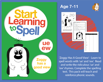 'Zoggy Has A Good View' Spell Words With 'ue' and 'ew': Learn To Spell