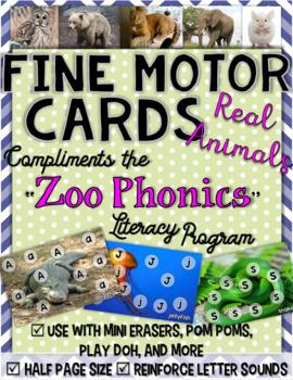 """Zoo Phonics"" Fine Motor Cards"