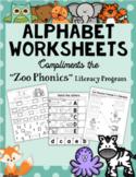 """Zoo Phonics"" Inspired Alphabet Worksheets"