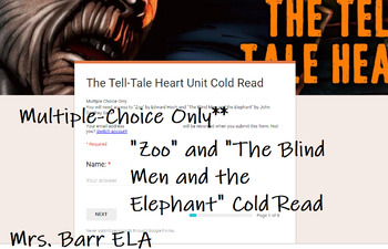 """""""Zoo"""" and """"The Blind Men and the Elephant"""" """"Tell-Tale Heart"""" Cold Read- MC Only"""