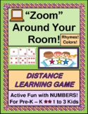 """""""Zoom"""" Around Your Room! - Distance Learning Numbers & Col"""