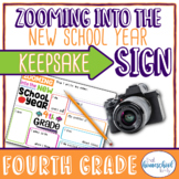 """First Day of School Sign, """"Zooming into the New School Yea"""