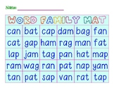 /a/ Word Family CVC Mat | Milk and Cookie Practise