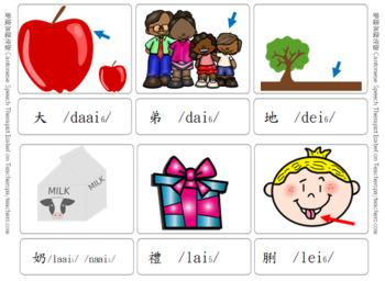 /aai/ /ai/ /ei/ Cantonese Articulation minimal pairs
