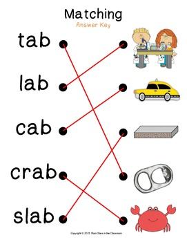 -ab Word Family Packet