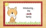 -ack Chunk Word Family Lesson-Smart Board –11 slides-Interactive-Grades PreK-3
