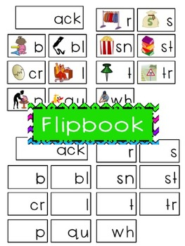 -ack Word Family Flipbook, Word Wall Cards and Data Tracking Sheets!