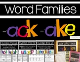 -ack & -ake Word Families:  Activities & Posters
