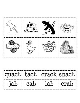 -ack and -ab Word Families